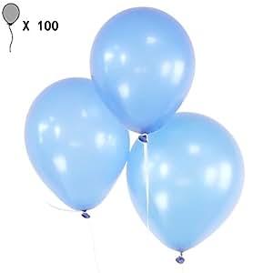 100 pz in lattice 10 pollici perla spesse palloncini bambini compleanno Natale vacanze palloncini decorativi festa feste di nozze luce Blue