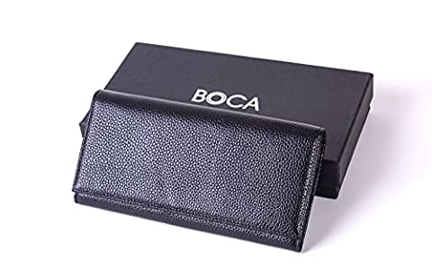 BOCA Genuine Leather Purse Wallet with RFID Blocking for Women, Ladies Credit Card Bifold Safe Holder Case Protector,