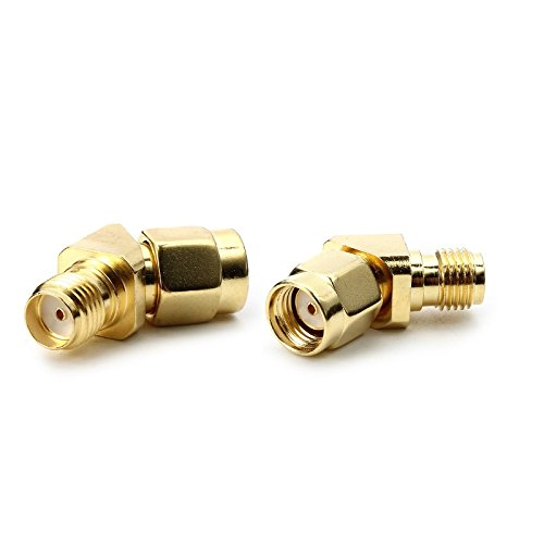 VIDOO Grad 45/135 Rp-SMA Stecker A SMA Buchse Antenne Adapter Anschluss für FPV Brille VGTX RX RC Drone