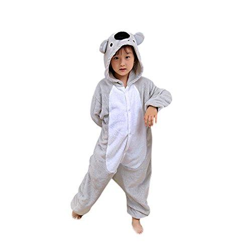 Casa - Tier Einhorn Pyjamas Unisex Kinder Pegasus Onesies mit Kapuze Jumpsuit Nachtwäsche Halloween Kostüm Kigurumi Karneval Fasching Cosplay Kleidung