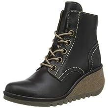 Fly London Women's NURE195FLY Combat Boots, Black (Black 005), 7 UK 40 EU