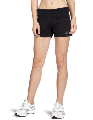 CURARE Damen roll down Shorts, black, L, 12 (Roll-down-yoga-hosen)