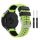 SUPORE Armband für Garmin Forerunner 235/230/630/220/620/735 - Silikon Ersatz-Uhrenarmband Uhrenarmband Einstellbar Armband Replacement Wechselarmband Watch Band für Forerunner 235 WHR Laufuhr