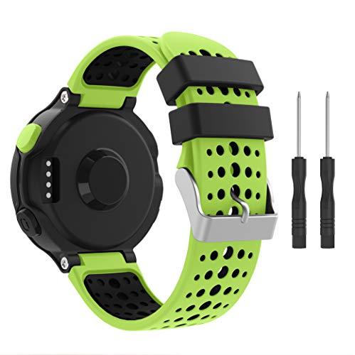 YaYuu Kompatibel Garmin Forerunner 235 Armband, Weiches Silikon Ersatz Uhrenarmb
