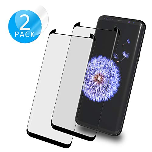 De.Zev Galaxy S9 Panzerglas, 2 Stück 3D Panzerglas Schutzfolie für Samsung S9 Schutzfoli