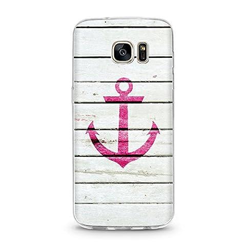 Handyhülle für Samsung Galaxy S7 Anker Pink Schutzhülle Cover Schutz Hülle Schale Case Motiv (Samsung S7, Anker
