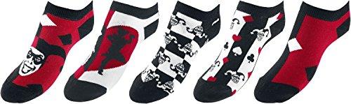Quinn Socken schwarz/rot/weiß EU 35-38 (Harley Quinn Strumpf)