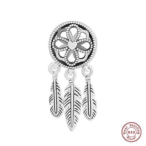 COOLTASTE 2018 - Atrapasueños espiritual, plata de ley 925, compatible con pulseras Pandora originales