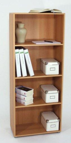 Regal, Bücherregal, Büroregal Buche 3 Zwischenböden NEU 23009