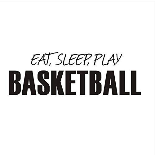 Wandsticker Essen Schlaf Spielen Basketball Wörter Wandaufkleber Diy Poster Wandtattoos Für Kinderzimmer Wohnkultur Jungen Sport Ball Spielzeug 55X169 Cm -