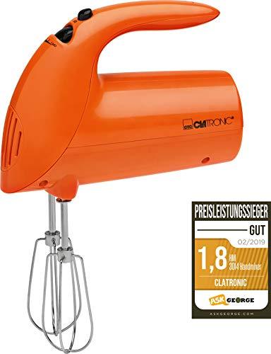 Clatronic HM 3014 Batidora de varilla especial repostería, 5 velocidades, 250 W, Plástico, Naranja