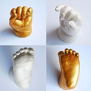 Empreintes de plâtre 3D empreintes bébé main & pied Casting Mini Kit