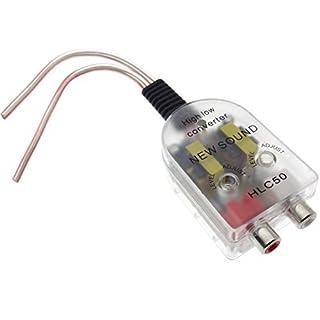 Auto Radio Endstufe Adapter Verstärker Wandler Lautsprecher Cinch RCA Converter