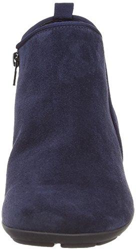 Gabor Trudy Damen Stiefel Blau (blue Suede Micro)