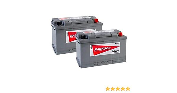 2x Hankook XV85 12V 85Ah Batterie D/écharge Lente Pour Loisir Caravane Camping Car Bateau 315x175x190mm