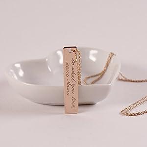 LITTLE MESSAGE...Kette mit Gravur Messagekette Botschaft Namenskette rosévergoldet