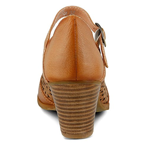 L'Artiste by Spring Step Efren Femmes Cuir Mary Jane Talons Natural