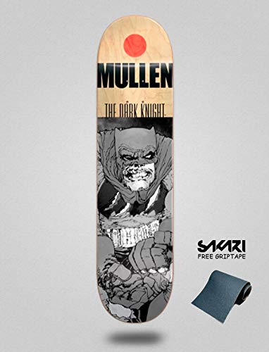 lordofbrands Almost Grey Knight Batman Rodney Mullen 7.75 Monopatín Skate Skateboard Deck (Deck Batman Skateboard)