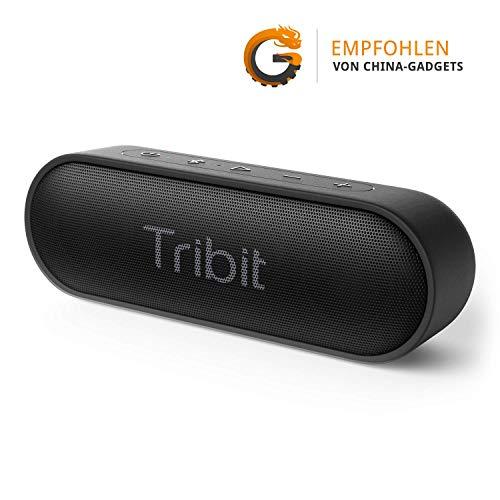 Bluetooth Lautsprecher, Tribit XSound Go Tragbarer Lautsprecher IPX7 Wasserdicht,12W Kabelloser Lautsprecher mit Bass+, 24 Stunden Spielzeit, 20M Bluetooth Reichweite--[Alles Beste Empfehlung]