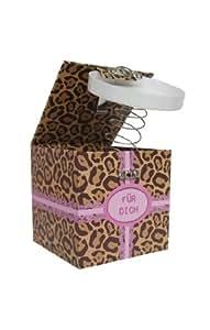 Trend Import 10531300 Boîte-surprise avec mécanisme à ressort Motif léopard
