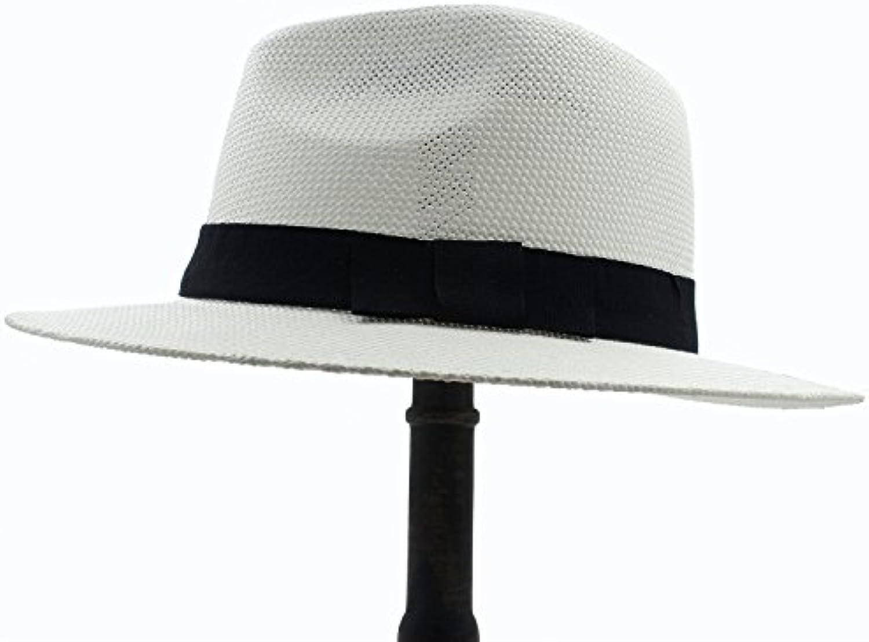 BAOJU Home Estate Donna Uomo Tesa Larga Toquilla Paglia Cappello Panama  Cappello Paglia per Sole per Signora Elegante Gentleman... Parent 46735e ed189072ebf9