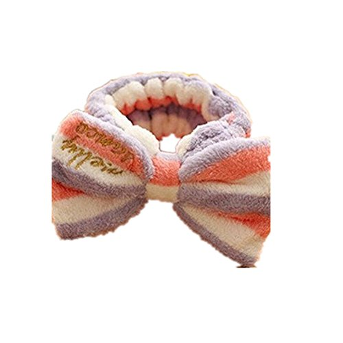 dylandy Stirnband Haarband Hair Wrap Band Coral Fleece Haarband bowknot Kopfband Gesicht waschen Make-up Kosmetik Sport-Dusche Kopfband Beauty Elastic verstellbar Haarband für Frauen Mädchen