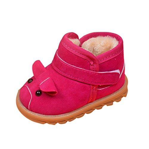 Chaussures de bébé,Transer ® Infantile pour bébé filles garçons bottes hiver épaisse neige bottes chaussures de fourrure Rose vif