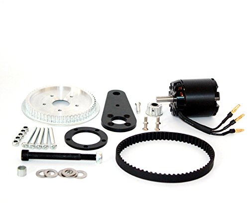 Belt Drive (L-faster Town 7XL Electric Scooter Conversion Kit Customized Belt Drive For PU Wheel DIY High Speed Electric Kickscooter Motor (kit with motor))