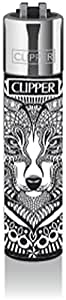 Clipper® Briquet–motif collection Tattoo Animals–Loup