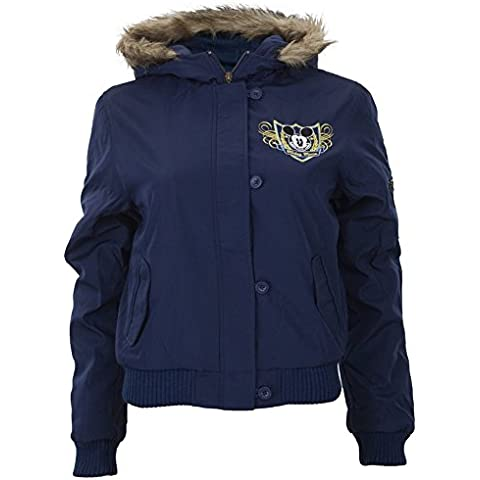 Old Glory–Mickey Mouse–para mujer Ornate Crest Juniors Chaqueta