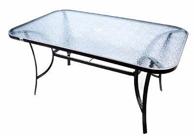 7tlg. Gartengarnitur Alu Sitzgruppe Sitzgarnitur Glastisch Gartenstühle schwarz