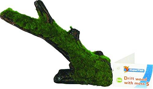 SF Keramik Baumstamm mit Moos Gr. S Aquarium Baumstamm Mit Wurzeln