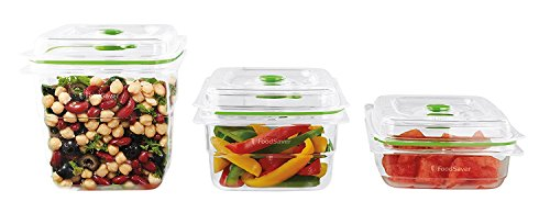 Foodsaver FFC020X-01 - Fresh containers, pack de 3 unidades