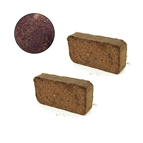 Yardwe Coco Coir Brick Kokosnussfaser Erde Blumenerde Pflanzensamen Starter Pods Kit zum Pflanzen von Blumen Gemüse -