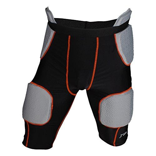 Active Athletics American Football Unterhose, Girdle mit 5 integrierten Pads - schwarz Gr. 2XL