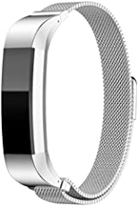 Leoie Magnetic Stainless Steel Watch Band Strap for Fitbit Alta/Alta HR