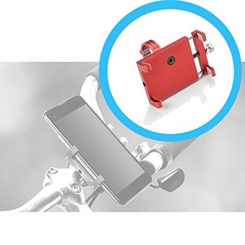 Smartphone | Handy Fahrrad Halterung Bike Holder 360° drehbar für Xiaomi Mi7 Dipper - aus Aluminium - ROT