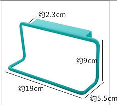 Handtuchhalter Kunststoff Einhand Tür zurück Stil Haken Aufhänger Rack Badezimmer Küchenschränke , blue