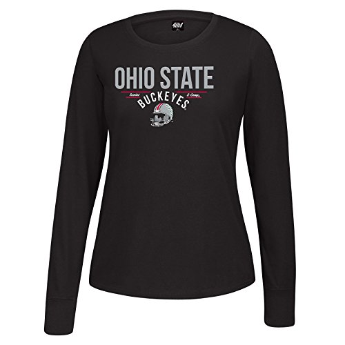 J America Ls Ohio State Football Essential T-Shirt, Damen, Football Essential Tee, schwarz, Small (State Football-t-shirt Ohio)