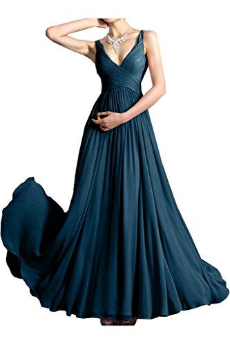Missdressy - Robe - Plissée - Femme Tintenblau