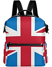 9206755cf913 TIZORAX Union Jack British Flag School Backpack College Bags Daypack  Bookbags for Teen Boys Girls