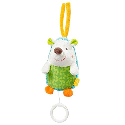 Geformte Einheit (Fehn 071023 Mini-Spieluhr Igel / Kuscheltier mit integriertem Spielwerk mit sanfter Melodie zum Aufhängen an Kinderwagen, Babyschale oder Bett, für Babys und Kleinkinder ab 0+ Monaten)