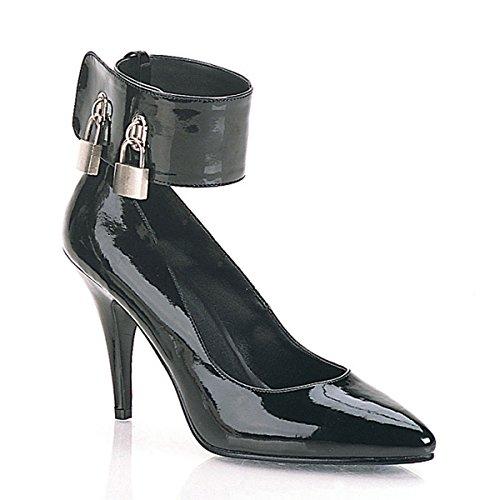 Pleaser Vanity-434 - Sexy Fetisch High Heels Lack Pumps abschließbar 35-48, Größe:EU-41/42 / US-11 / UK-8