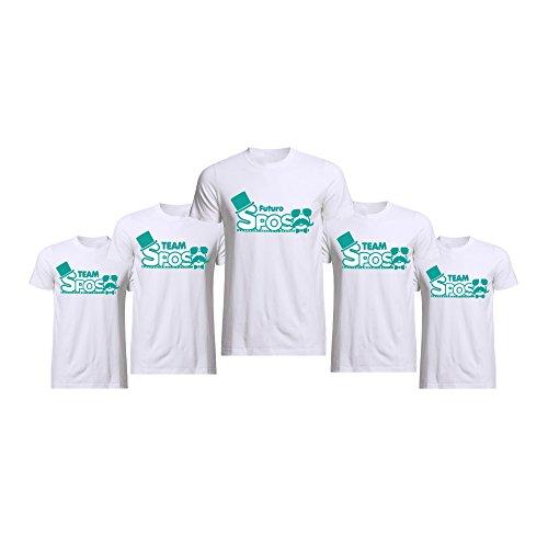 Altra marca pacchetto 5+1 t-shirt bianche magliette da uomo personalizzate per addii al celibato sosteniamolo tutti