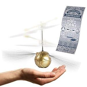 Dickie Toys 209454000 Harry Potter Golden Heliball - Helicóptero teledirigido (Cable de Carga USB, Incluye Hoja de Repuesto y póster de Quidditch)