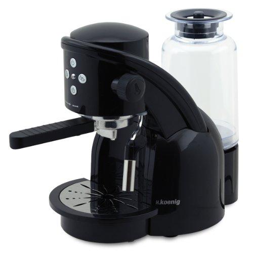 H.Koenig XPS15 Espressomaschine, 15 bar, 1360 W, schwarz thumbnail