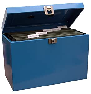 Cathedral Metal A4 File Box - Blue