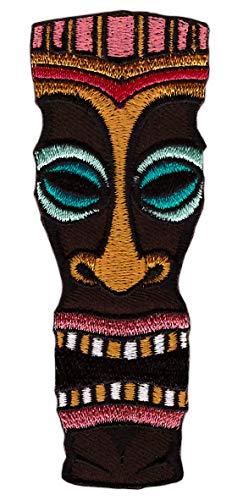 aiimaske Voodoo Aufnäher Bügelbild Flicken Größe 3,6 x 9,5 cm ()