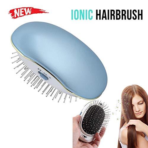 Mini-Ionic-Haarbürste, leegoal tragbare elektrische Ionic-Haarbürste, die Kämme-Kopfhautmassagegerät für alle Haartypen, Hair Detangler, antik-statisch, natürlichen Glanz - Anti-frizz-kamm