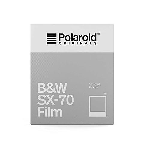 Polaroid Originals 4677 Film pour Appareil Polaroid SX-70 Noir/Blanc